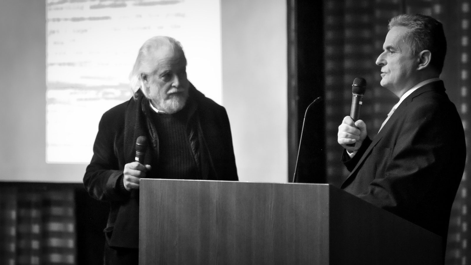 Michael Chaplin & Pierre Smolik on the podium