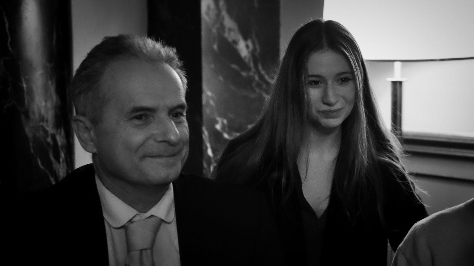 Pierre Smolik with Amina Jendly