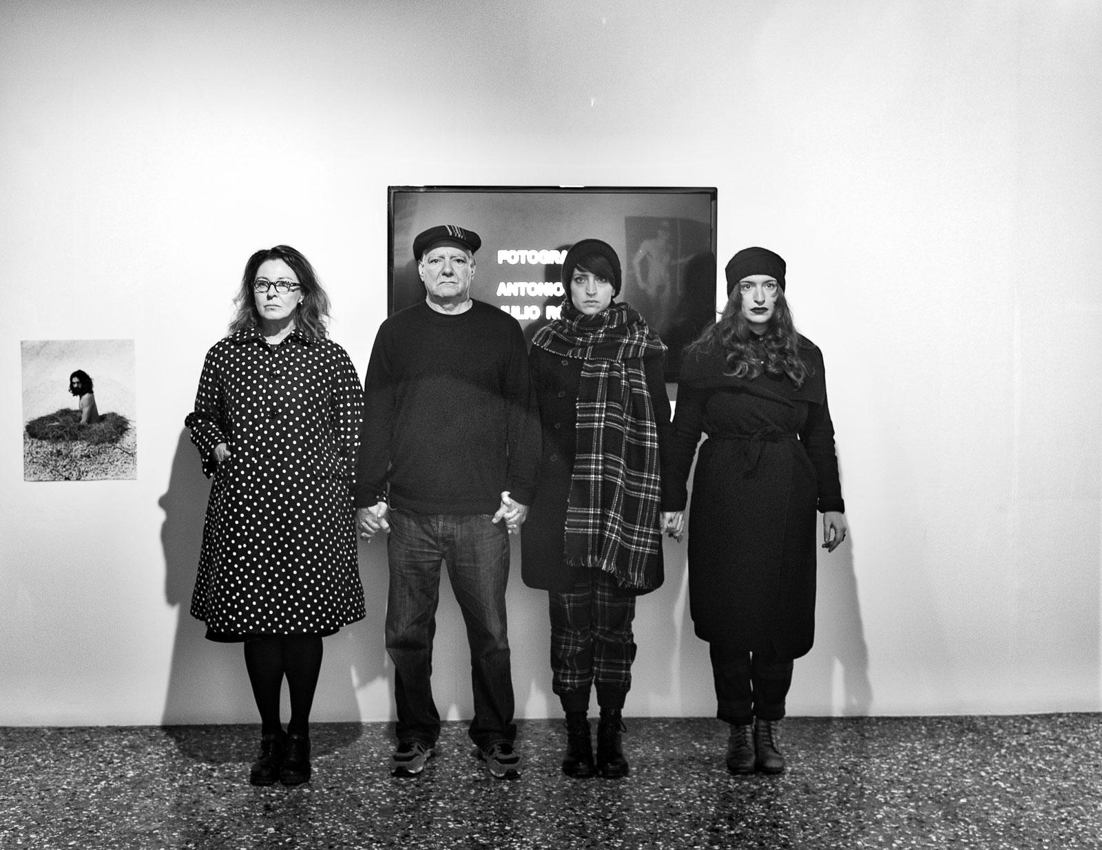 With Marisa Abate (left), Cristiana Zeta Rolla and Francesca Carol Rolla