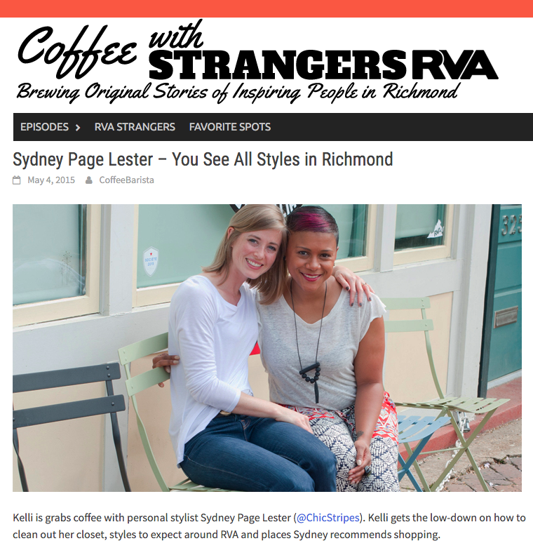 You See All Styles in Richmond, Coffee with Strangers RVA