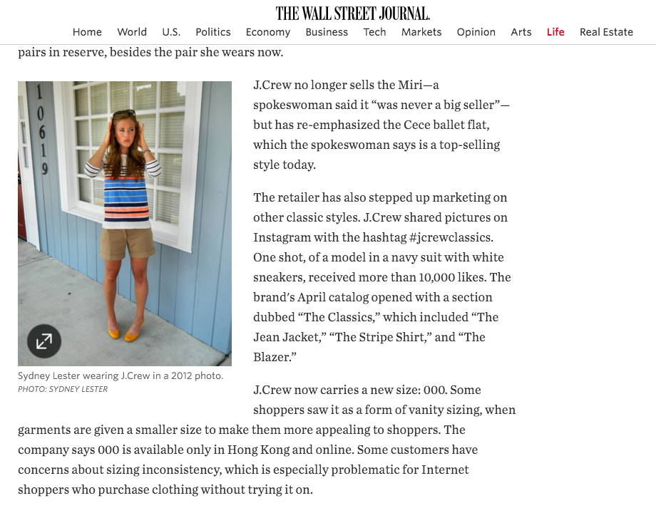 Dear J.Crew, What Happened to Us? We Used to Be So Close, The Wall Street Journal