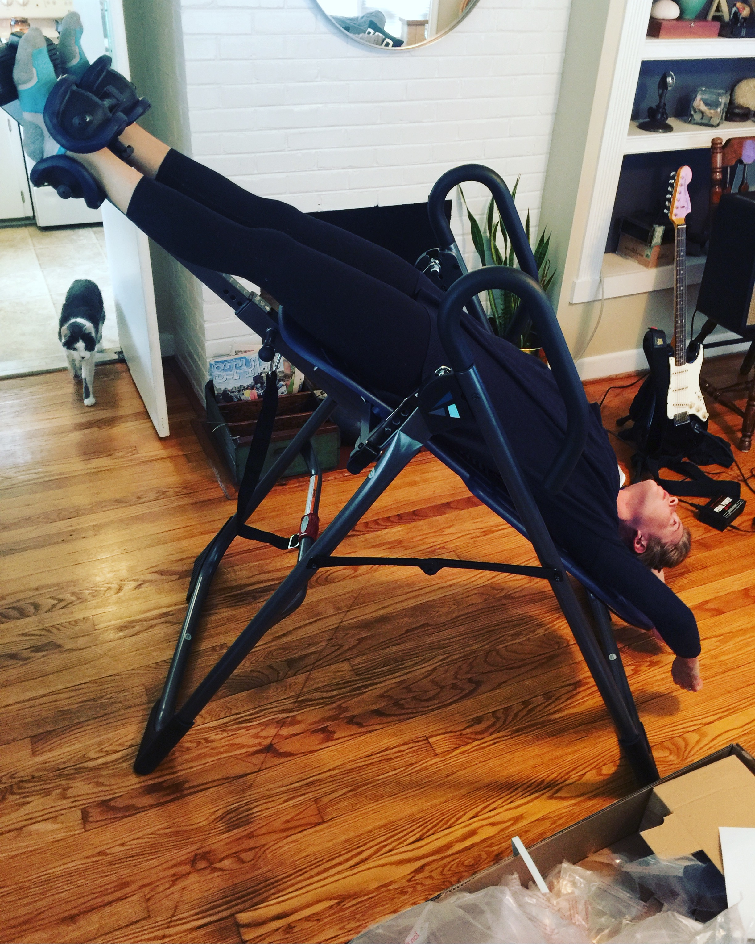 So we also bought this inversion table and I'm loving it!