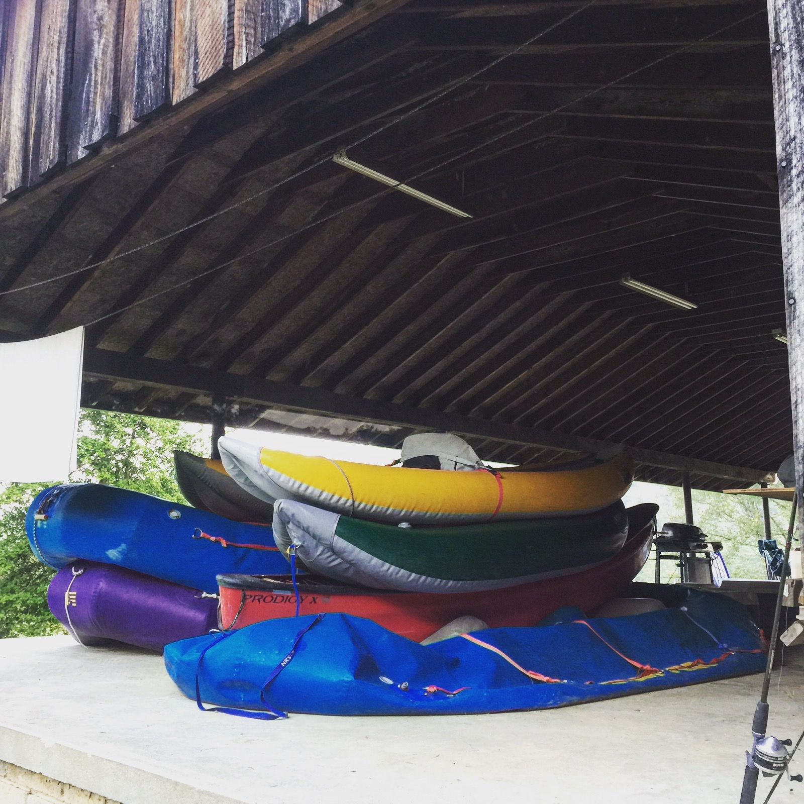 White water rafts, August 2015.