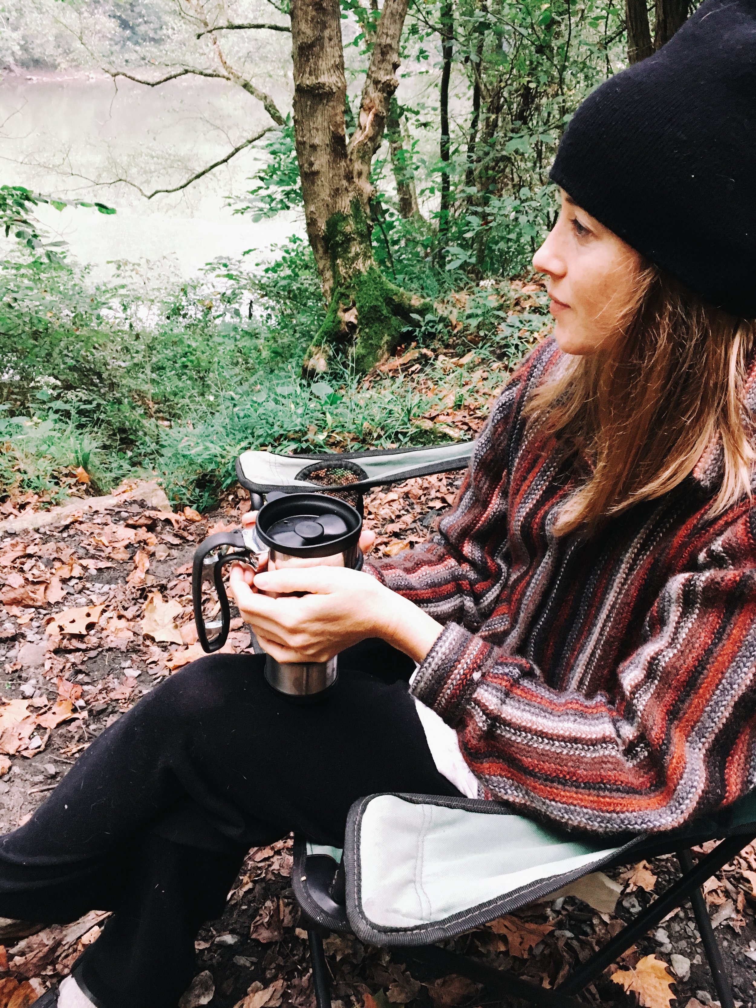 To-go French press is the perfect way to start your camp mornings.