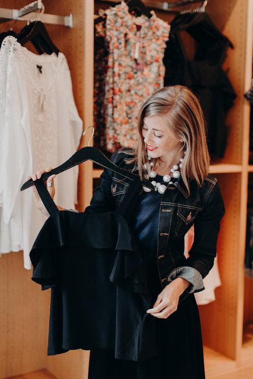 jcrew black blouse