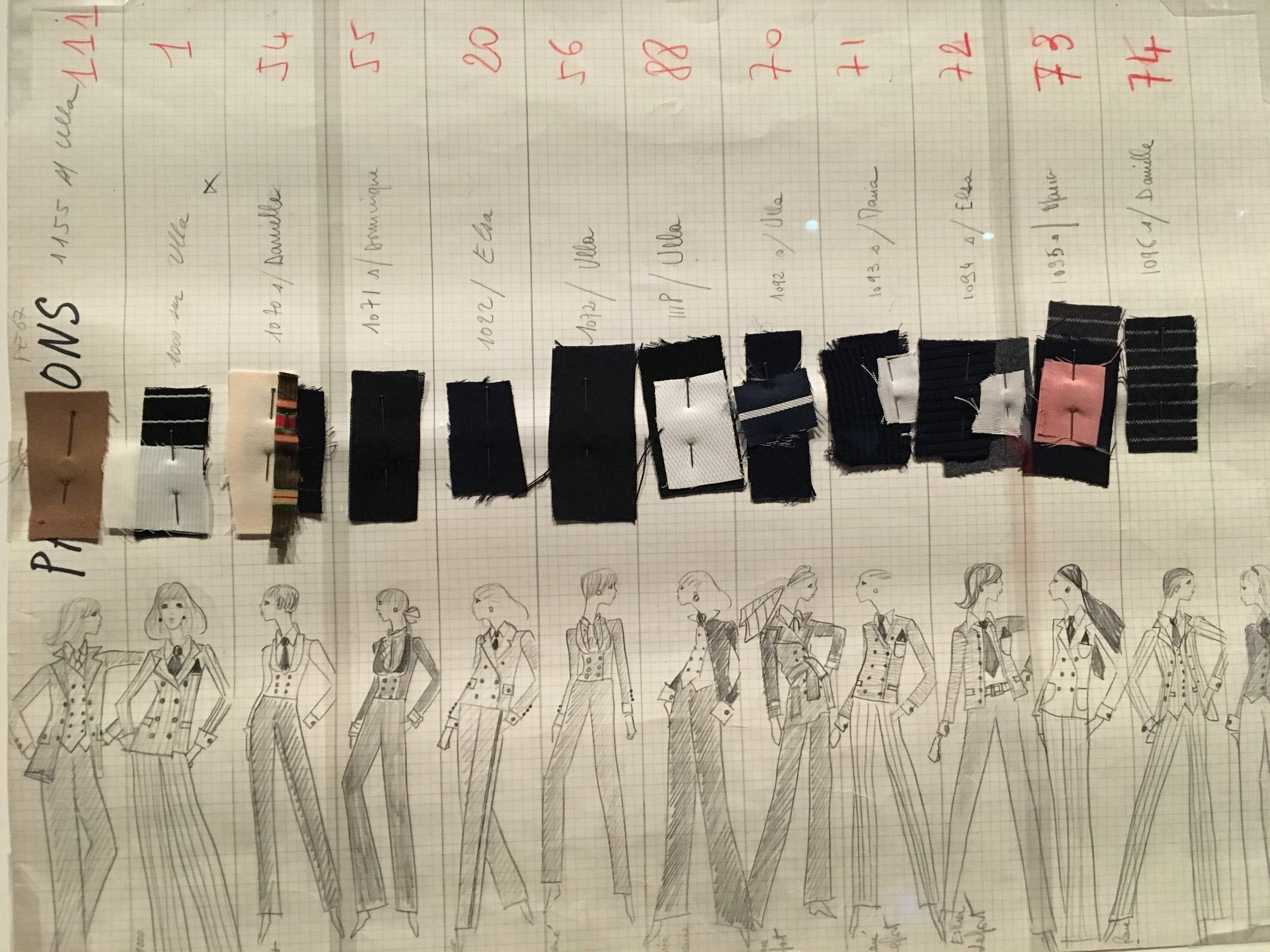yves saint laurent vmfa sketches