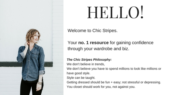 chic stripes hello