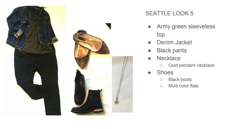 seattle outfit capsule