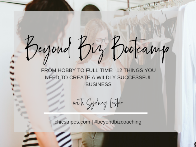 Biz Bootcamp Certification - Whether you're dreaming of starting your own personal styling business or you've been working your side hustle for a few years, this comprehensive bootcamp will give you everything you need to set up a solid foundation to build a successful personal styling business. This is a 12 week online course that is taught live with 12 pre-recorded video lessons, a 30-page workbook, access to a private Facebook group chock full of resources. When you join, you'll also get access to 6 live group coaching calls every other week! BONUS - you get access to ALL Biz Bootcamp calls for life!