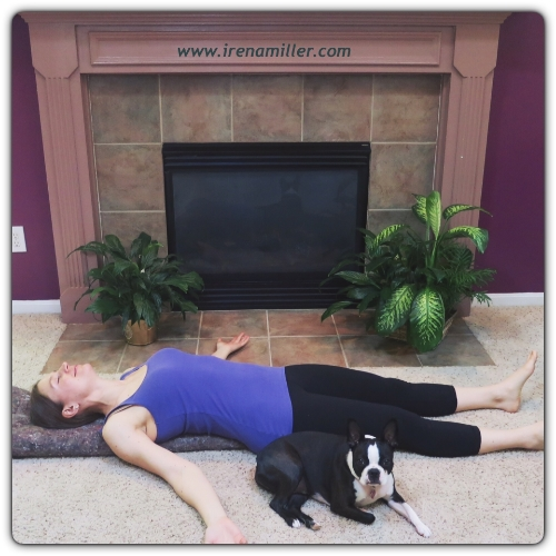 Restorative Yoga Pose Irena