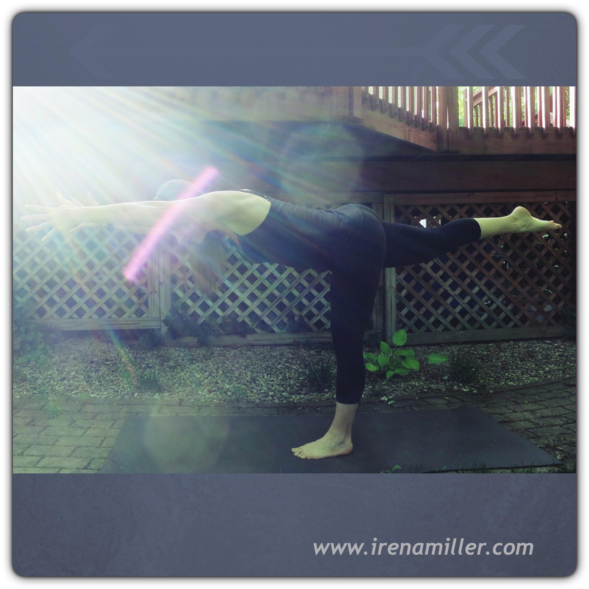 vira warrior 3 yoga pose irena