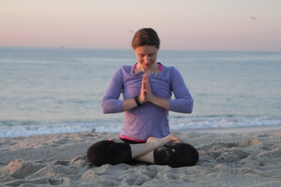 Breath work to peace. Yoga with Irena www.irenamiller.com