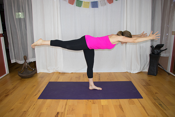 Warrior III. Yoga for a Strong Core and a Strong back. www.irenamiller.com