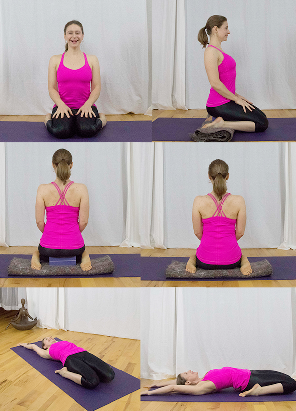 yoga for stiff hips with Irena Miller. Virasana/Hero's pose www.irenamiller.com
