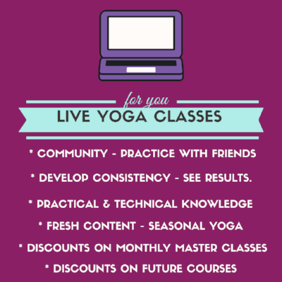 Live virtual yoga classes with Irena Miller www.irenamiller.com/yoga-club