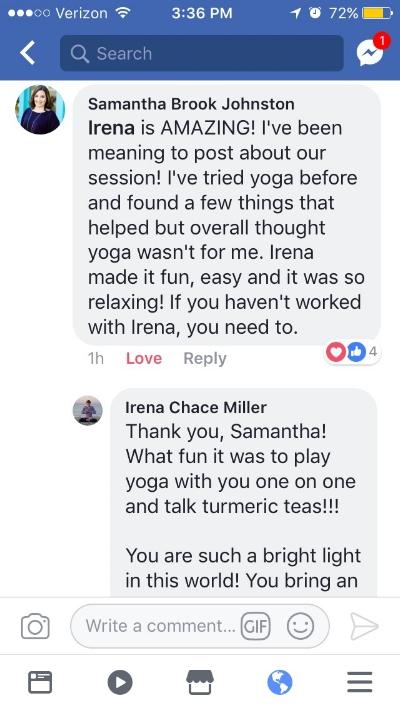 yoga with irena www.irenamiller.com