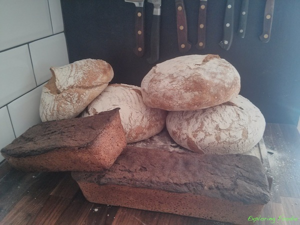 My own creations- selection of rye and white breads