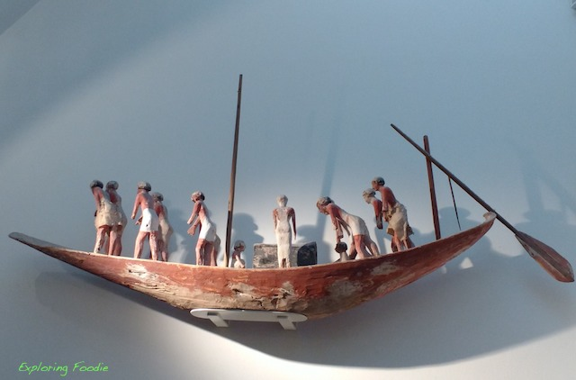 Old Egyptian boat in National Museum