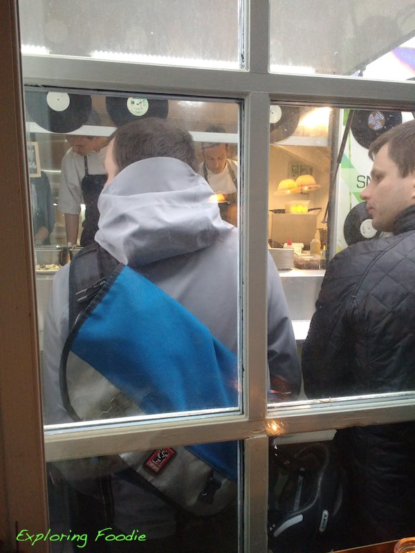 View from Balderdash to food truck kitchen