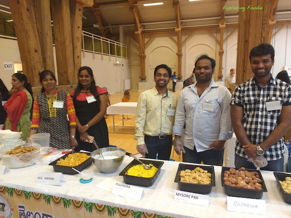 Happy Telangana team ready to offer you their dishes