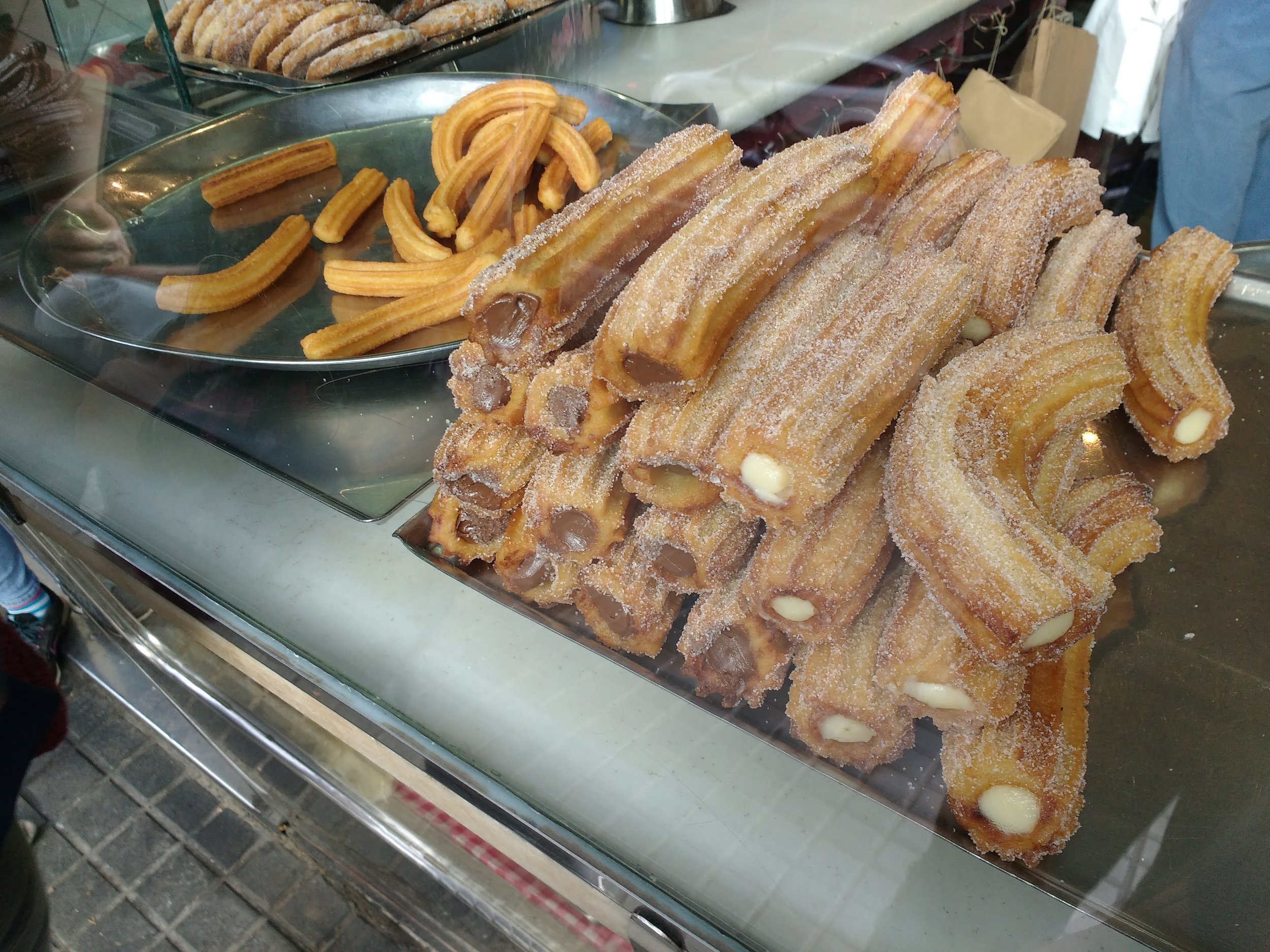 These are the famous Churros. You can choose regular, chocolate or with cream