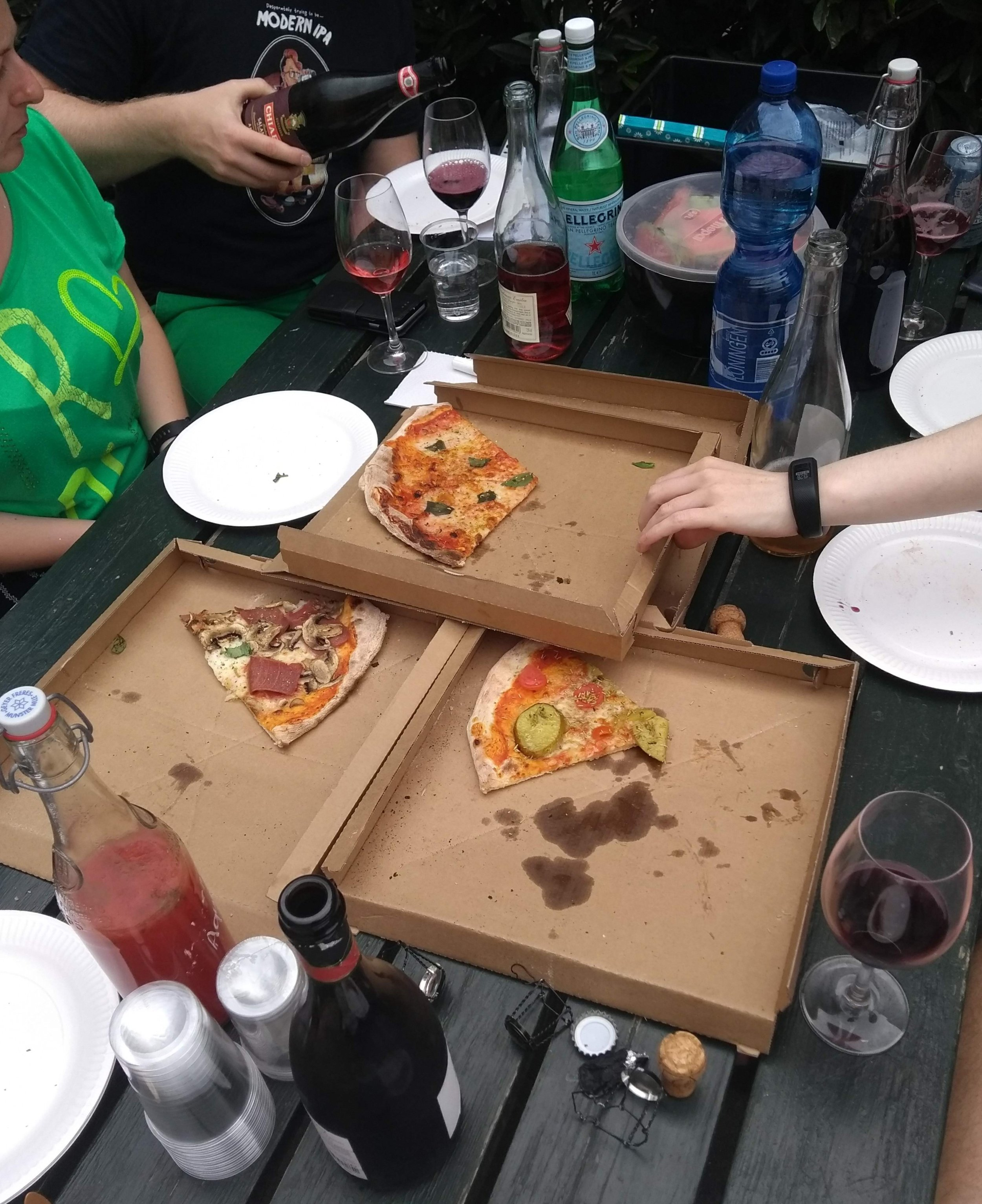 Pizza and Lambrusco with friends this weekend