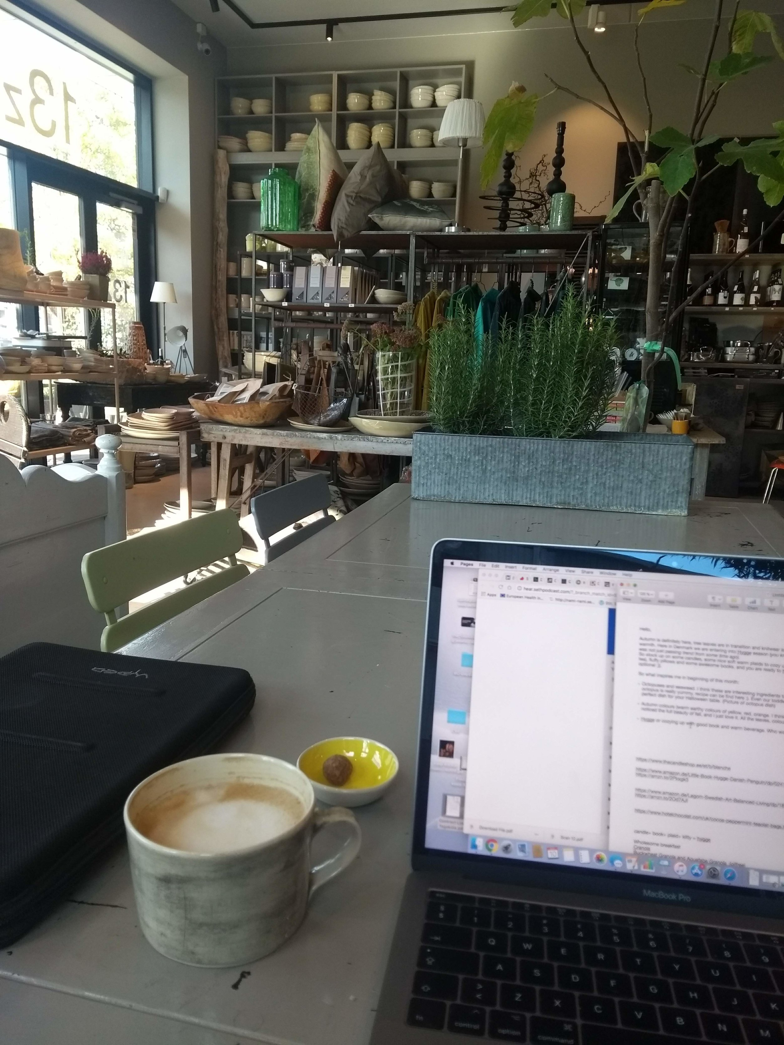 Today's cozy view of pottery, art and off course some work  :) @cafe13z