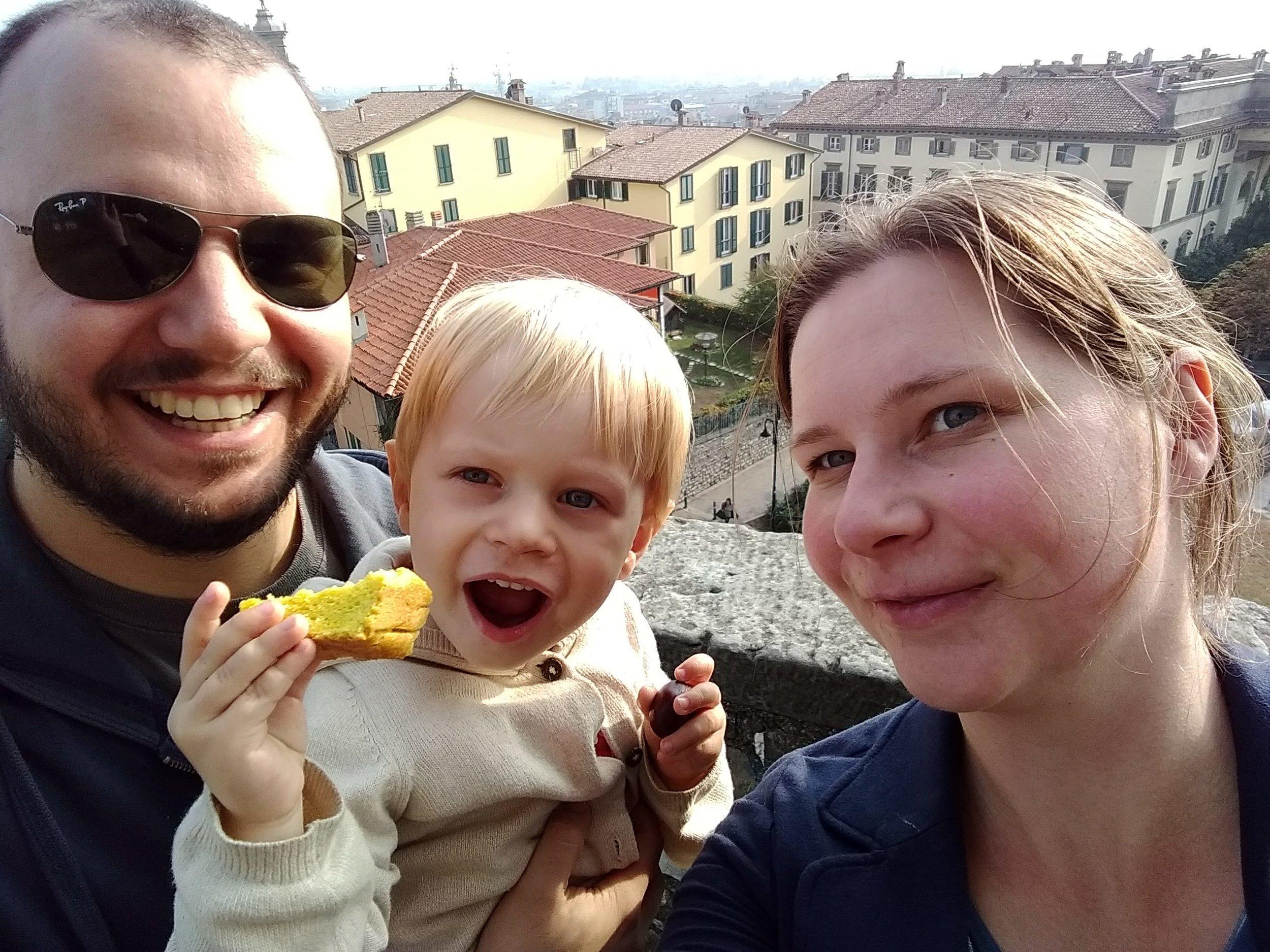 Our foodie family exploring Bergamo