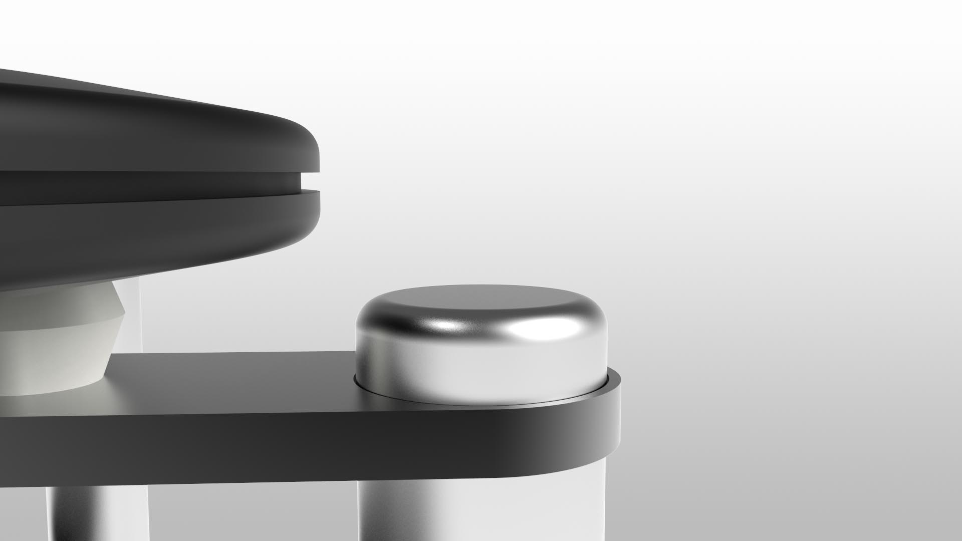 Constrained Layered Damping  The platform has a further level of isolation with an extruded polymer mat sandwiched between precision routed wooden composite layers.