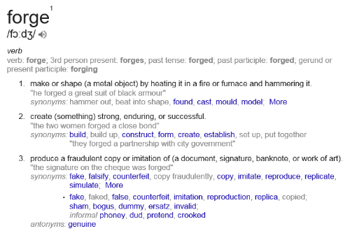 To forge -a political necessity or an act of immorality?