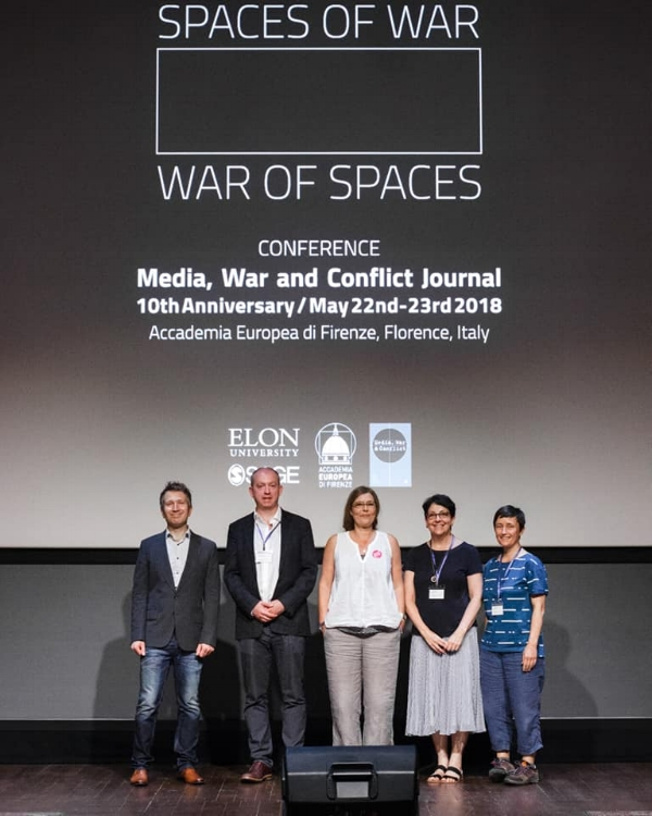 (L-R) Keynote Andrew Hoskins with editors Ben O'Loughlin, Sarah Maltby, Laura Roselle and Katy Parry.
