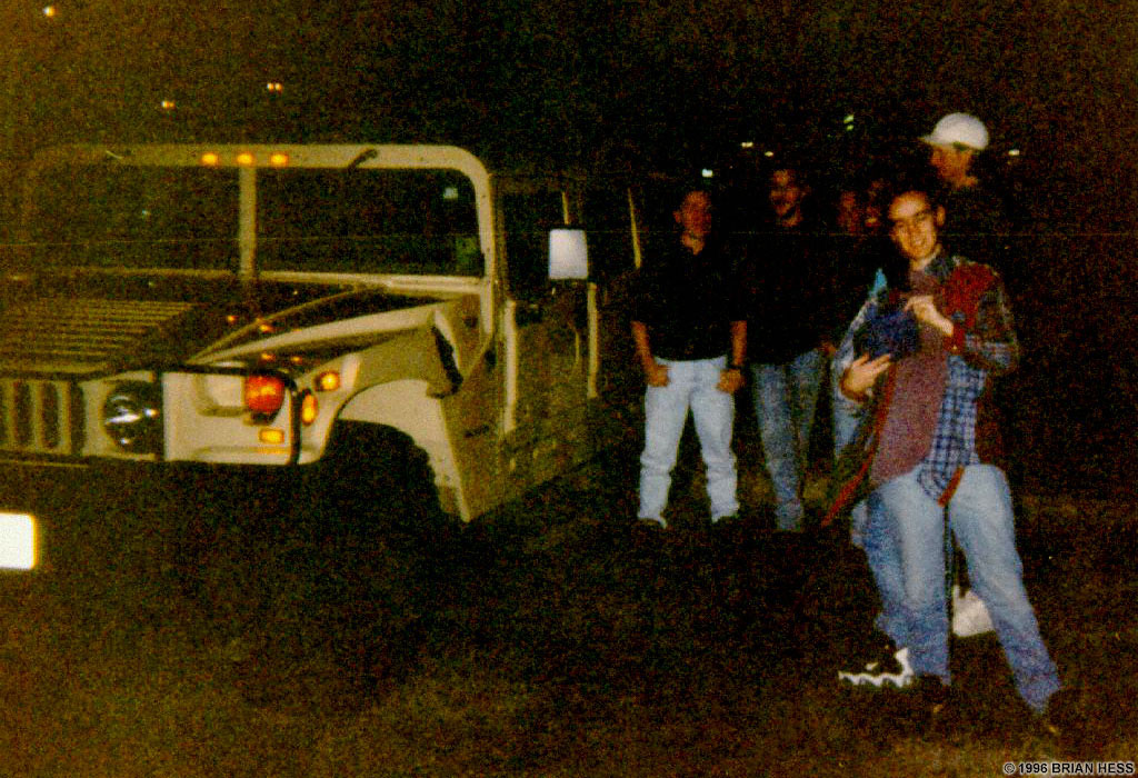 Outside QuakeCon 96, talking with friends