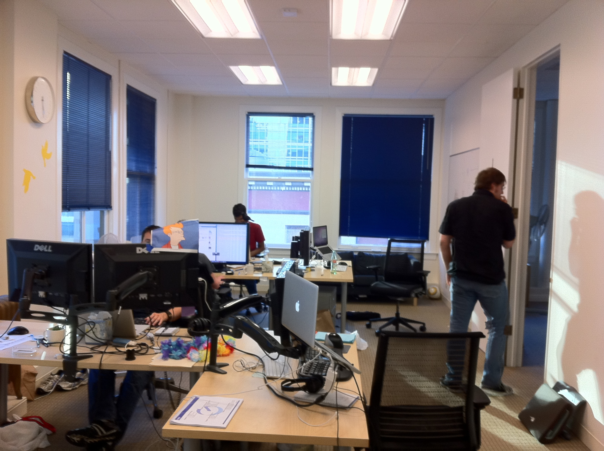 The programmer's room. My desk was just outside the door on the right.