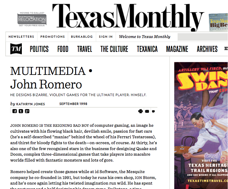 Texas Monthly: Top 20 Texans 1998