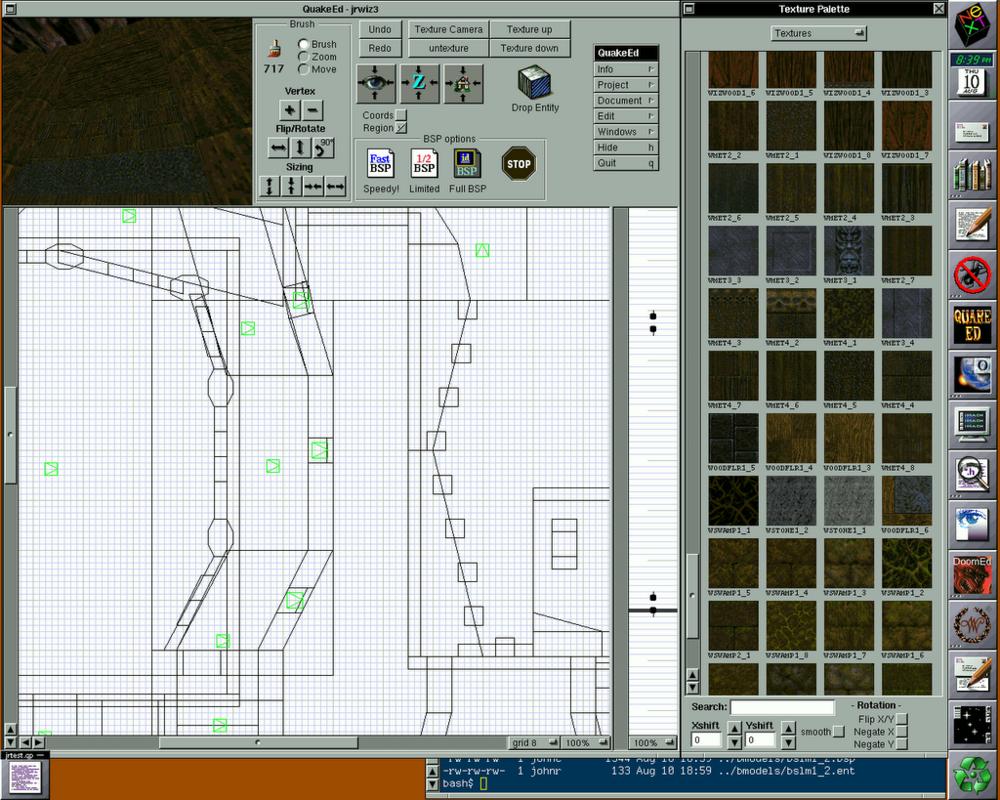 NeXTSTEP Operating System & QuakeEd, 1995
