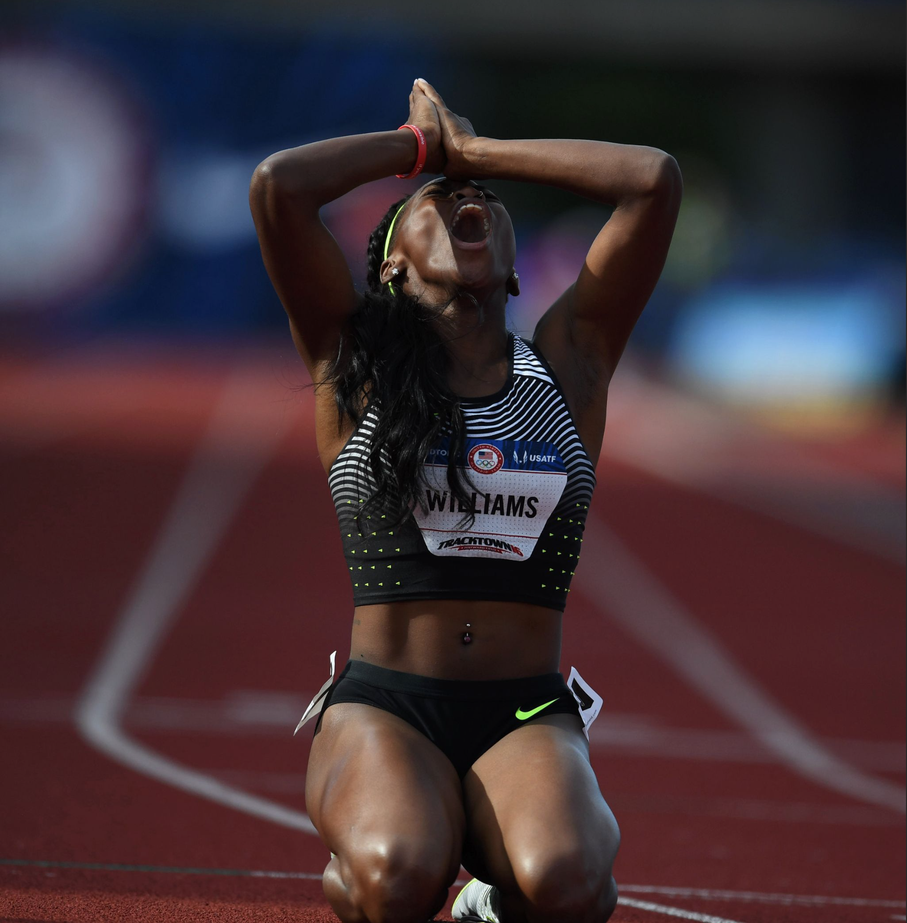On the other side of the emotion 800-meter final was Christina Williams, who paced third overall to make the Olympic team.