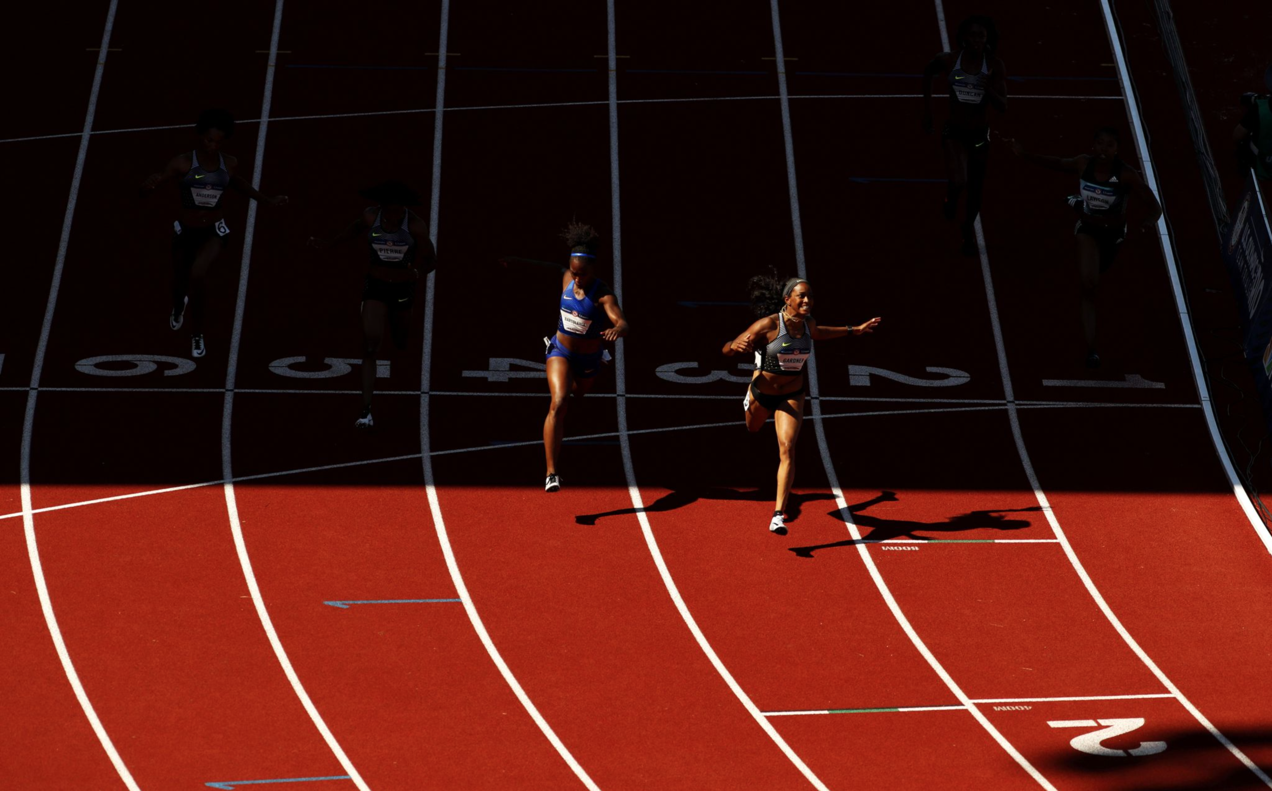 After failing to make the Olympic team in 2012, English Gardner won the women's 100-meter to book her spot in Rio.