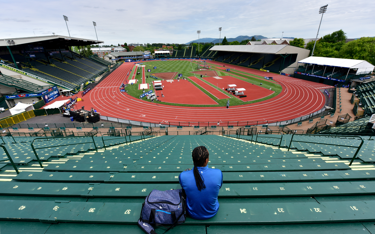 "Merritt sits at Hayward Field in Eugene while Kelly Clarkson's song ""Stronger'' plays over the speakers. ""What doesn't kill you makes you stronger,'' the lyrics say. Those words could have been written about Merritt."