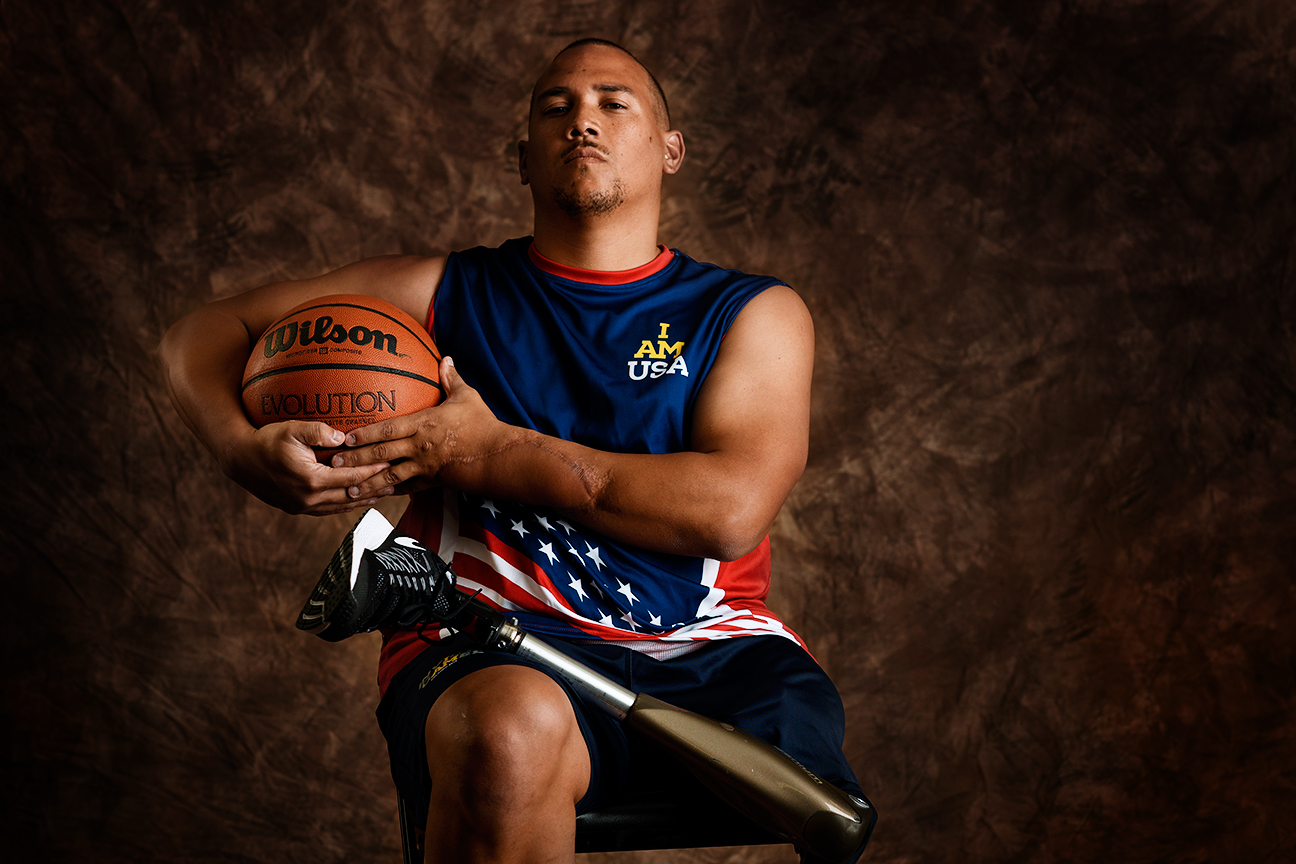 Brian Williams, 34, served in the Air Force. The Arizonian competed in wheelchair basketball and helped lead the U.S. team to a gold medal. He lost his left leg after sustaining injuries from a roadside bomb in Afghanistan.