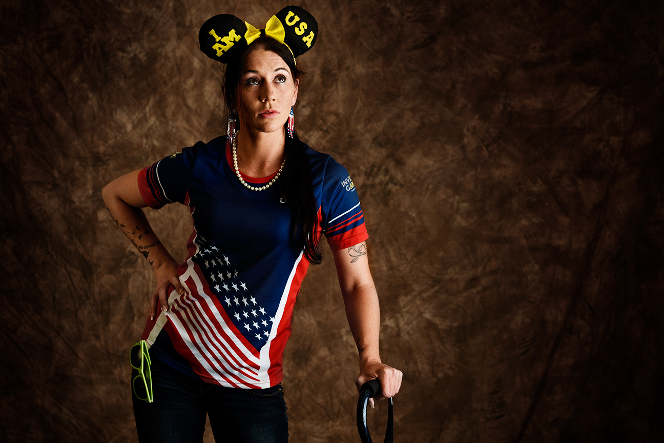 Kristen Esget, 30, is retired from the Coast Guard and is the only woman to represent that military branch at the Invictus Games. She is from Ridgeway, Virginia, and competed in swimming.