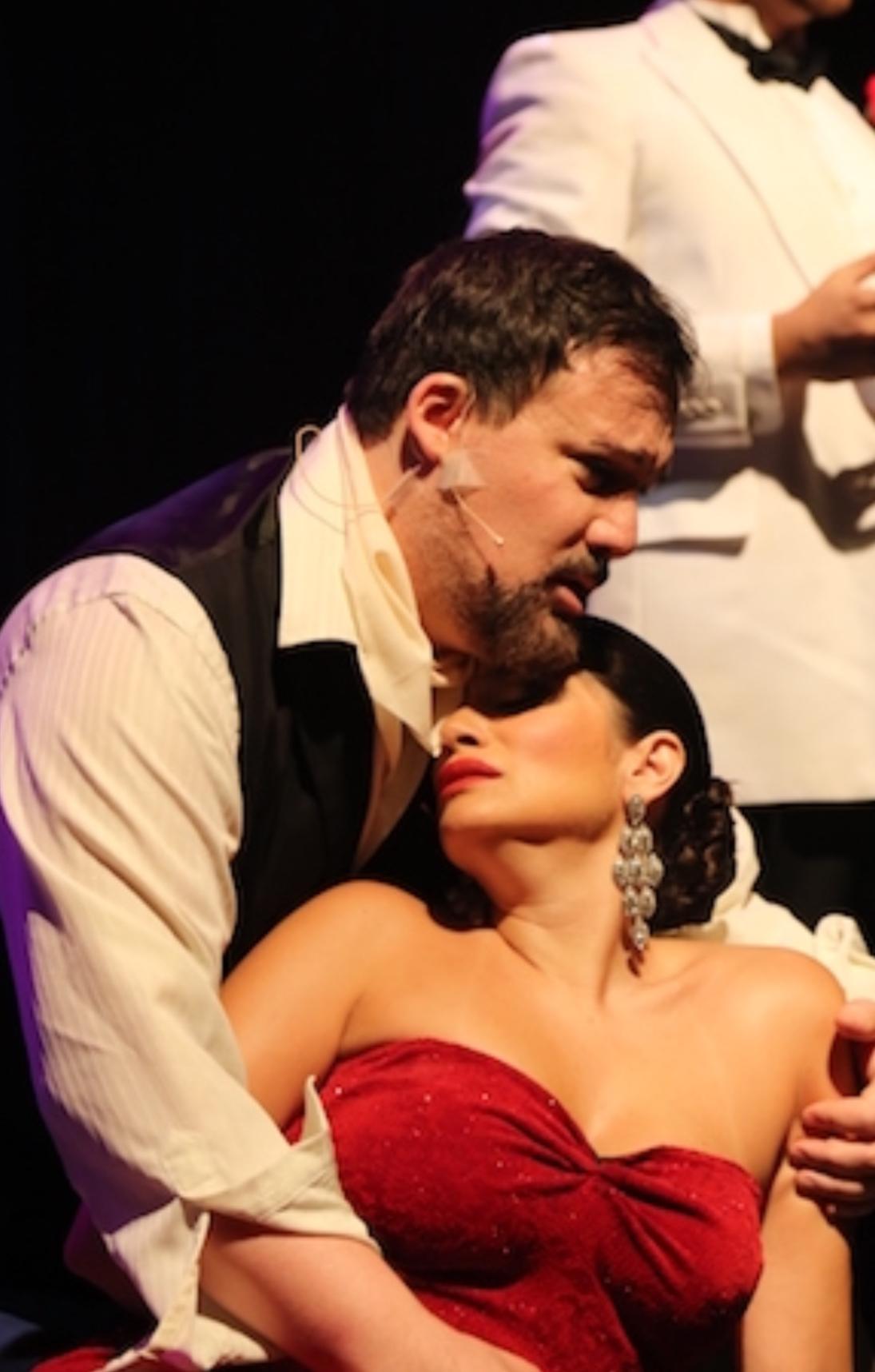 Performing as the Duende in María de Buenos Aires with soprano Catalina Cuervo