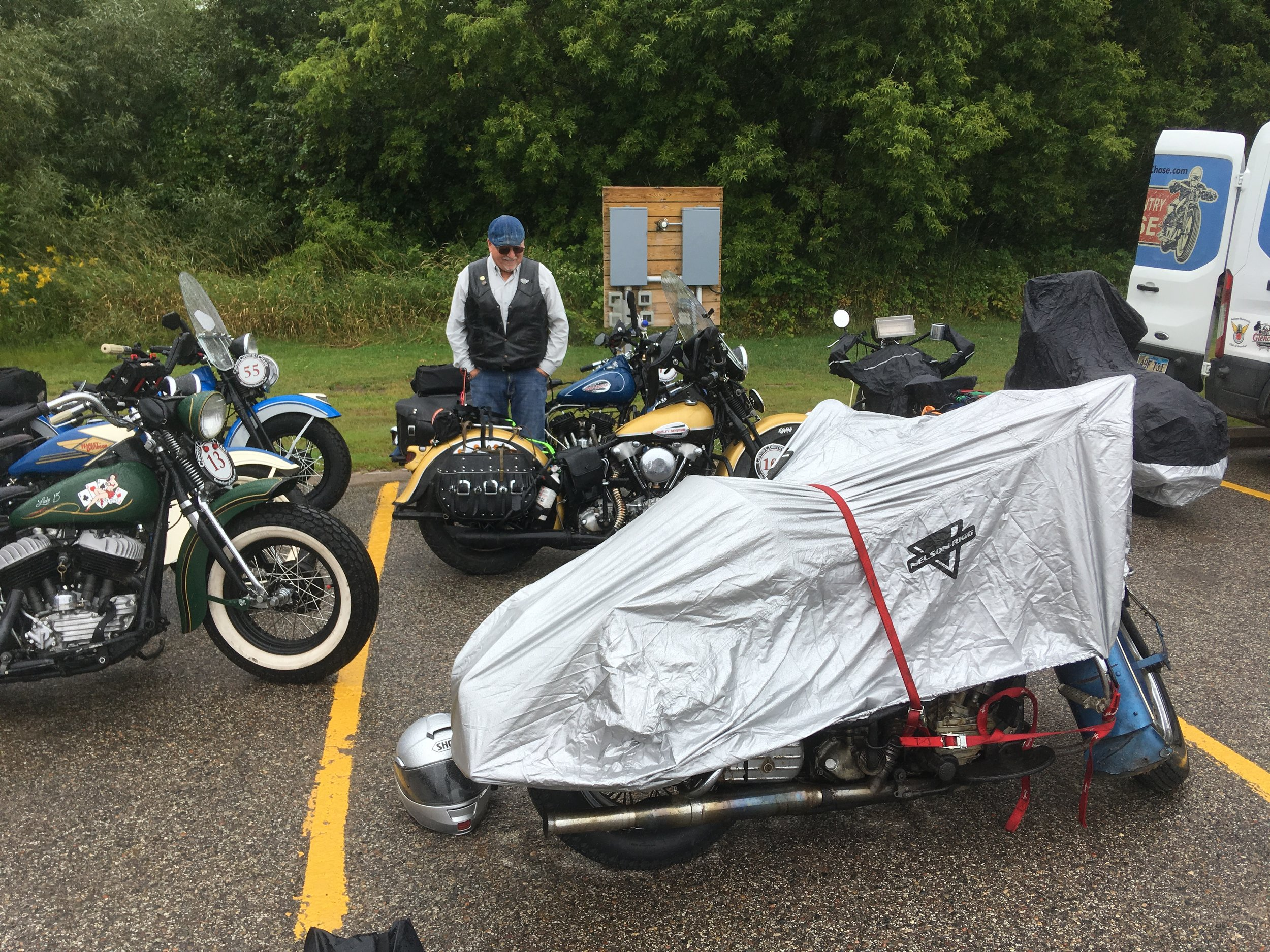 Bikes arriving in rainy Michigan
