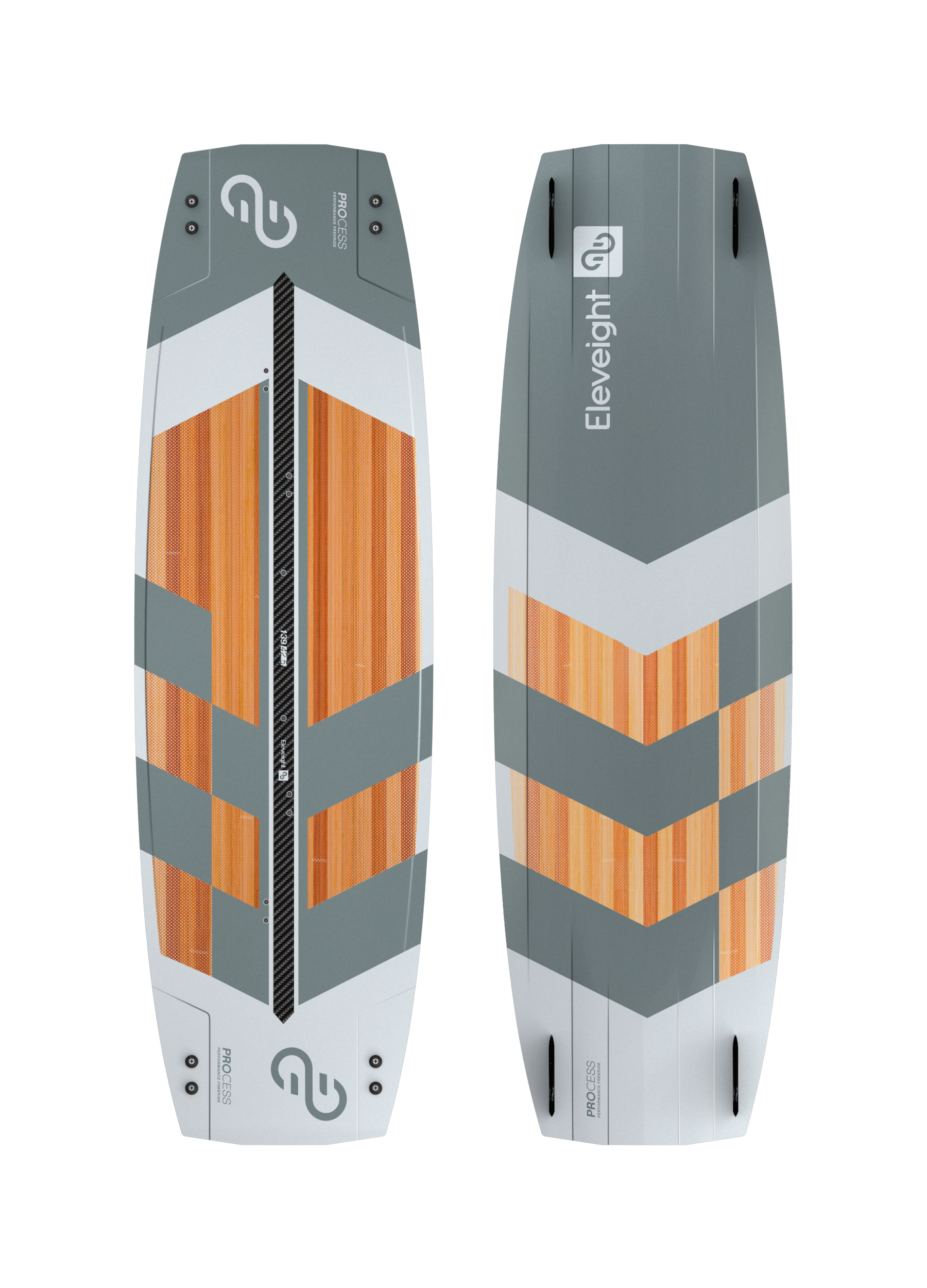 - PROCESSSizes 132x39.5, 135x41, 139x42.5, 144x44PERFORMANCE FEATURESTwin tip for highest freeride performanceLightweight paulownia wood core with well-balanced flex pattern50mm Carbon Stringer reinforcement for smooth landings and superior carvingOptimized rocker line for early planing and dashing speedProgressive channel design provides superb grip and controlImplementation of snowboard tech for highest performance and durabilityUltra-durable top sheet with UV resistanceHigh-quality pads and straps and 45 mm G10 fins come included$859.00