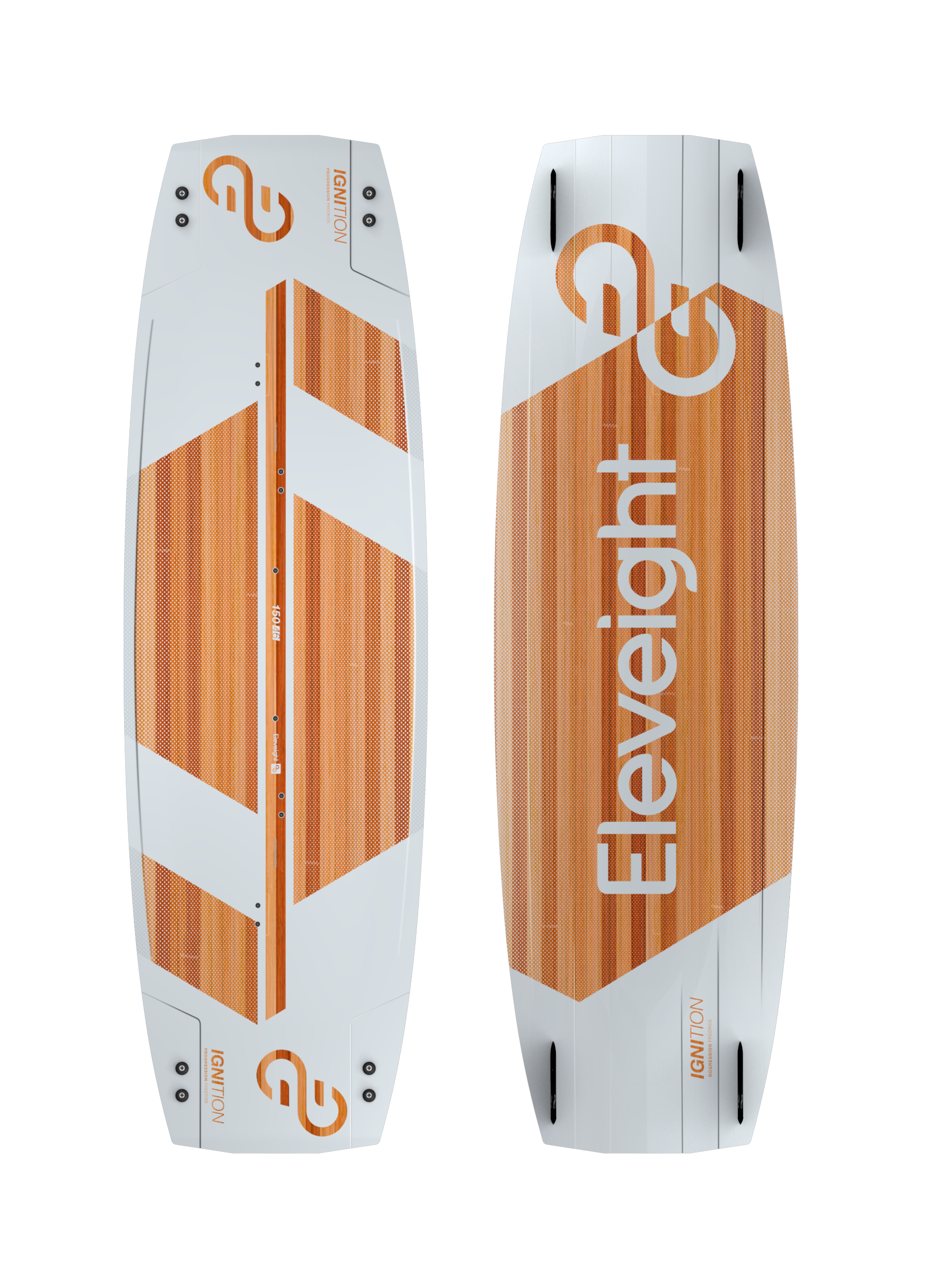 New for 2020! - IGNITIONSize 150x46PERFORMANCE FEATURESProgressive Freeride twin tip with excellent lightwind performanceLightweight Paulownia wood core for balanced flex and durabilityEarly planing for light wind fun and heavier ridersSingle concave for more lift and controlReinforced inserts used in snowboard constructionUltra-durable top sheet with UV resistanceAirgo pads and straps45mm G10 fins$799.00