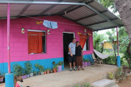 Habitat for Humanity built several houses in KM54 and Dulce got one of them!! Here Dulce and Greg are standing in front of her home. She is so proud!! We love to see God work in so many ways!