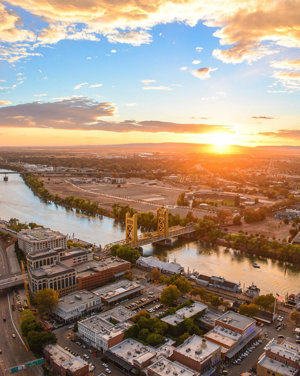 @oldsac from up high. What's your favorite place in Old Sac?