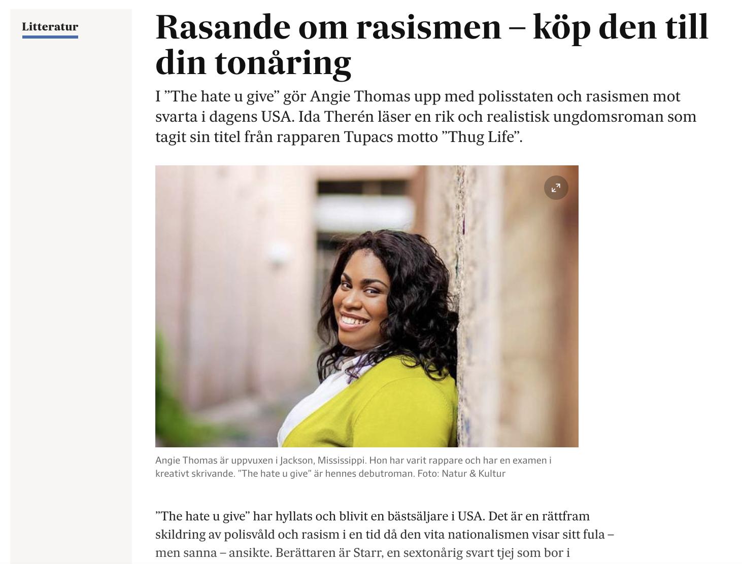 Exempel på  mina recensioner i Svenska Dagbladet . Kika gärna runt där och här på  min hemsida  för att läsa fler texter och få en känsla för min smak och syn på litteratur.