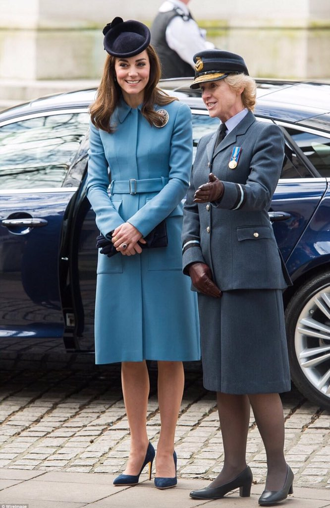 Air Cdre McCafferty greets HRH before being introduced to cadets