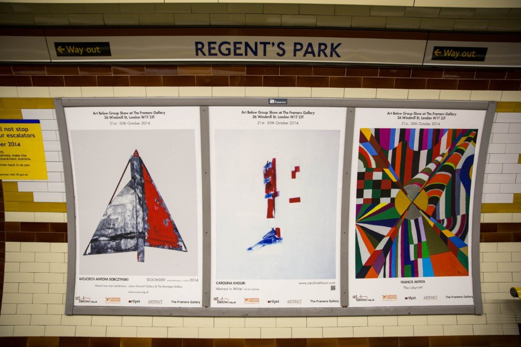 Exhibition Art On The Underground Francis Akpata