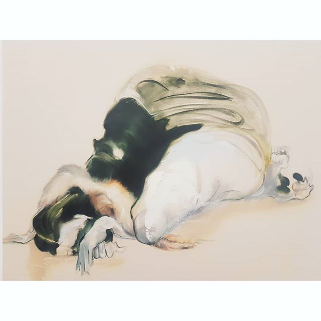 @aramintablue from last week's Slade MA degree show 🖤 @sladeschool . . . . . . #aramintablue #sladedegreeshow #sladeschool #contemporarypainting #femalepainter #painting #inspiration
